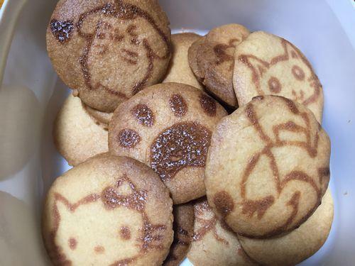 キャラクタープリントクッキーの画像 オーブンでの焼き方