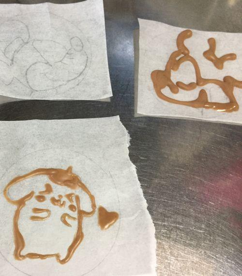 クッキー用に描いたチョコのイラスト