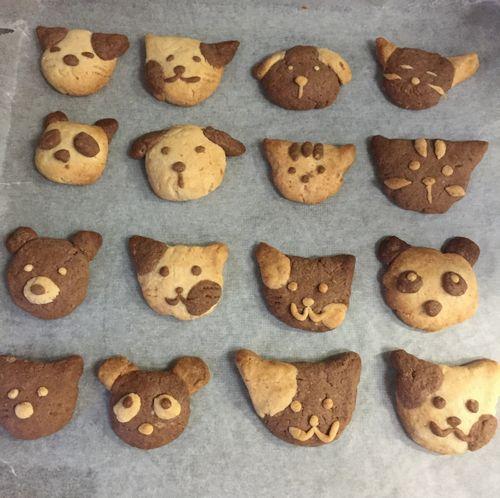 動物クッキー 焼き上がり