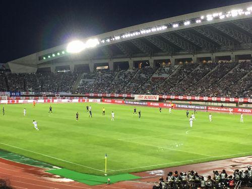 サッカー観戦したスタジアムの写真