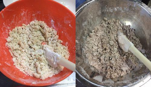 クッキー バター生地に小麦粉を混ぜる